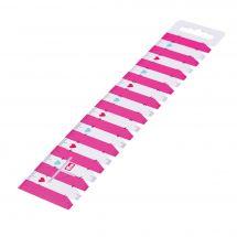 Règle couture - Prym - Réglette rose - 23 cm