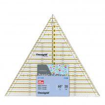 Règle Patchwork - Prym - Triangle Omnigrid - 20x23 cm