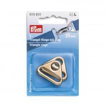 Accessoire pour sac - Prym - Anneaux triangulaires coloris or - 25 mm