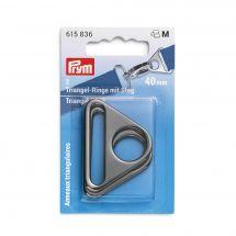 Accessoire pour sac - Prym - Anneaux triangulaires coloris argent foncé - 40 mm