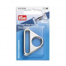 Accessoire pour sac - Prym - Anneaux triangulaires coloris argent - 40 mm