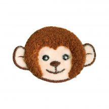 Ecusson thermocollant - Prym - Tête de singe beige/marron