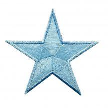 Ecusson thermocollant - Prym - 2 motifs phosphorescents étoiles bleues