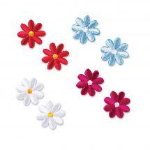 Ecusson thermocollant - Prym - Fleurs bleues/rouges/roses/blanches
