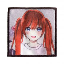 Ecusson thermocollant - Prym - K-Pop Label - Fille cheveux rouges