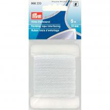 Entoilage - Prym - Ruban biais d'entoilage blanc - 5 m x 12 mm