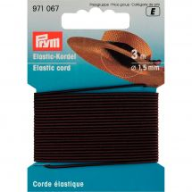 Elastique - Prym - Corde élastique 1,5 mm marron