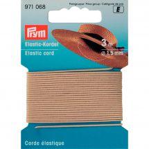 Elastique - Prym - Corde élastique 1,5 mm beige