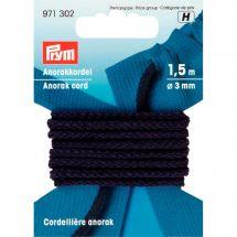 Cordons et Cordelières - Prym - Cordelière Anorak 3mm bleue marine