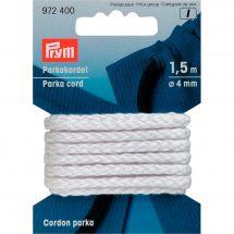 Cordons et Cordelières - Prym - Cordelière parka 4mm blanche