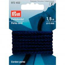 Cordons et Cordelières - Prym - Cordon parka 4mm bleu marine
