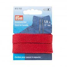 Renforts Thermocollants - Prym - Cordon pour sweat à capuche 17 mm rouge
