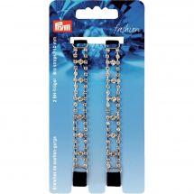 Accessoire lingerie - Prym - Bretelles de soutien-gorge noires / strass