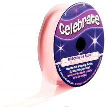 Organza en bobine - Celebrate - Organza rose pâle uni - 12 mm x 6 m