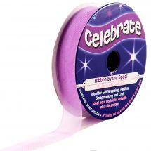 Organza en bobine - Celebrate - Organza violet uni - 12 mm x 6 m