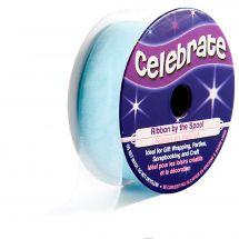 Organza en bobine - Celebrate - Organza bleu ciel uni - 20 mm x 5m