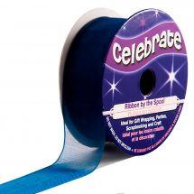 Organza en bobine - Celebrate - Organza bleu marine uni - 20 mm x 5 m