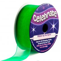 Organza en bobine - Celebrate - Organza vert - 20 mm x 5 m