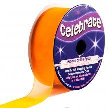 Organza en bobine - Celebrate - Organza orange uni - 20 mm x 5 m