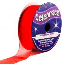 Organza en bobine - Celebrate - Organza rouge - 20 mm x 5 m