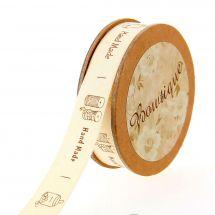 Ruban coton en bobine - Bowtique - Coton Hand Made - 15 mm x 5 m
