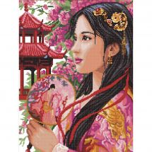 Kit point de croix - Luc Créations - La princesse d'Asie