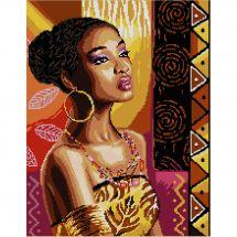 Kit point de croix - Luc Créations - L'africaine