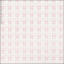 Toile à broder - LMC - Toile Aïda à carreaux roses 5.5 en coupon ou au mètre