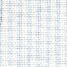 Toile à broder - LMC - Toile Aïda à rayures bleues 5.5 en coupon ou au mètre