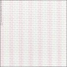 Toile à broder - LMC - Toile Aïda à rayures roses 5.5 en coupon ou au mètre