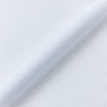 Toile à broder - LMC - Toile Aïda blanc irisé 5.5 en coupon ou au mètre