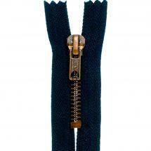 Fermeture non séparable - Prym - Fermeture Eclair ® Bleu marine/Vieil or - Métallique- 6mm