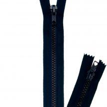 Fermeture non séparable - Prym - Fermeture Eclair ® Bleu marine - Bouche à bouche - Moulée