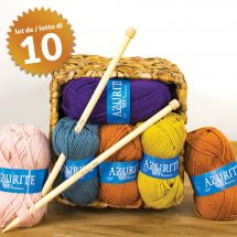 Fil à tricoter - Azurite - Azurite (10 pelotes)