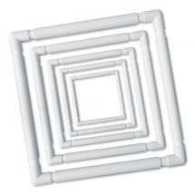 Métier à broder - LMC - Métier à clips blanc