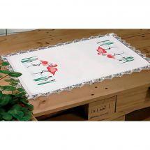 Kit de napperon à broder  - Margot de Paris - Flamants roses