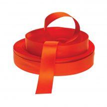 Ruban au mètre - LMC - Ruban double face en satin orange rousse - Vendu au mètre