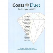 Nuancier - Coats Duet - Nuancier Coats Duet