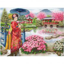 Kit point de croix - Anchor - Le jardin japonais