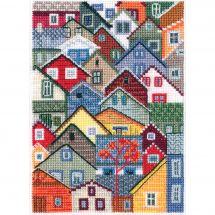 Kit point de croix - RTO - Maisons colorées
