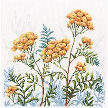Kit point de croix - RTO - Fleurs jaunes