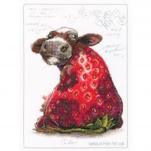 Kit point de croix - RTO - Vache-fraise