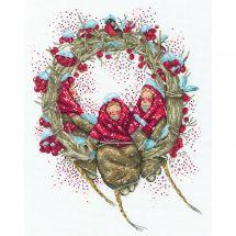Kit point de croix - RTO - Couronne de Noël