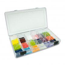 Boîte broderie Diamant - LMC - Boîte à perles, strass, boutons