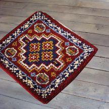 Kit de tapis point noué - Smyrnalaine - Bérangère