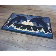 Kit de tapis point noué - Smyrnalaine - Les dauphins