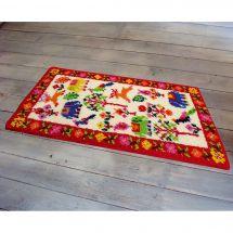 Kit de tapis point noué - Smyrnalaine - Les animaux en fête