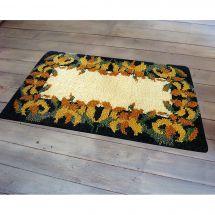 Kit de tapis point noué - Smyrnalaine - Les lys jaunes