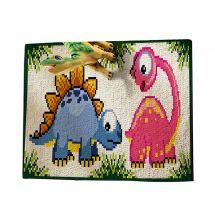 Kit de tapis point noué - Smyrnalaine - Les dinosaures