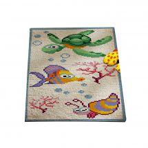 Kit de tapis point noué - Princesse - Les fonds marins